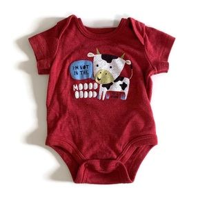 """⭐️3 for $12⭐️ I'm not in the moood"""" graphic onesie"""